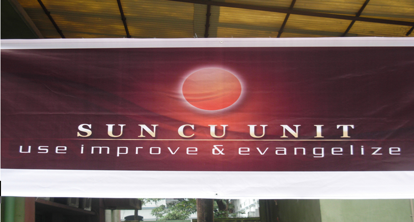 The Picture Beside Is Sun CU Unit Banner Under Which Students Get Motivated About Use Improve Evangelize